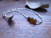 Romanglass + French antique beads Anklet