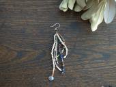 Labradorite + Old glass pierce