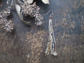 Antique crystal + seed beads pierce