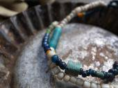 Romanglass + Old glass beads bracelet