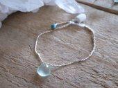 bracelet : Topaz + Silver beads