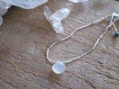 bracelet : Moonstone + Silver beads