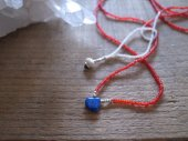 Lapis lazuli +seed beads necklace