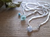 Rutileted quartz + seed beads necklace