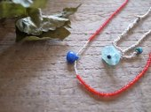 Lapis lazuli + seed beads necklace