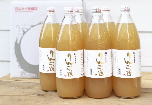 ◆青森りんごジュース 「りんご道」1000ml×6本セット