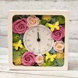 プリザーブドフラワー「花時計-スクウェア-」
