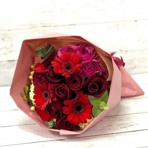 花束「赤のシンプルブーケ」