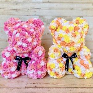 アーティフィシャルフラワー「KUMA-pink&orange-」
