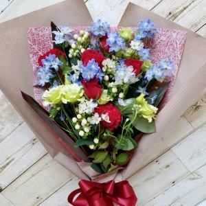 花束「赤バラとミックスブーケ」