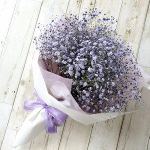 花束「紫色のカスミソウのブーケ」