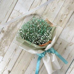 花束「緑色のカスミソウのブーケ」