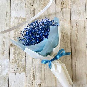 花束「青色のカスミソウのブーケ」