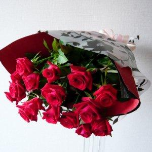 花束「赤バラの花束」
