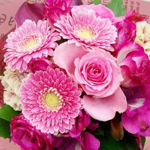 3000円から選べるおまかせ花束・ピンク系