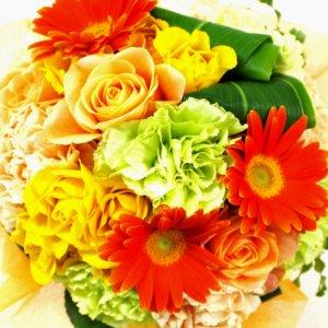 3000円から選べるおまかせ花束・黄色オレンジ系