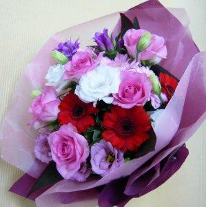 花束「大人ピンクの花束」