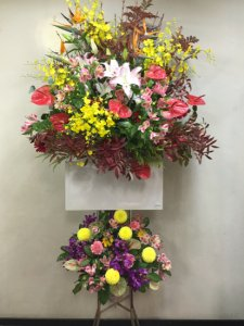 お祝生花スタンド2段「スタンダード 大」