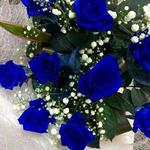 花束「青いバラのブーケ」