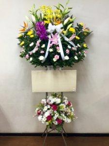 通夜・葬儀「生花二段スタンド 大サイズ」