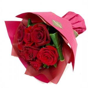 花束「赤バラのショートブーケ」