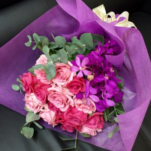 花束「バラのピンクミックスブーケ」