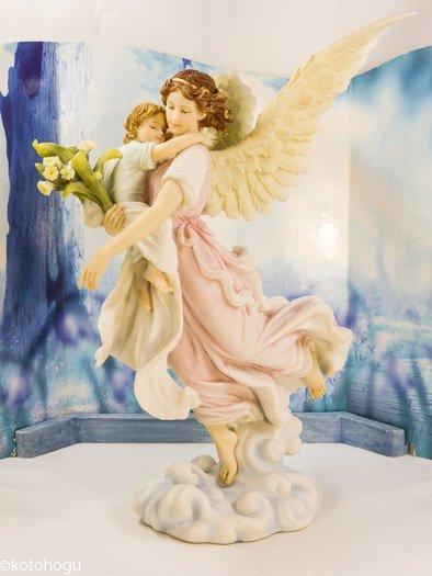 天使と子供達 守護天使置物 天使...