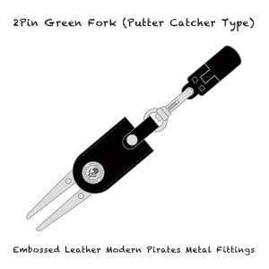 <img class='new_mark_img1' src='//img.shop-pro.jp/img/new/icons13.gif' style='border:none;display:inline;margin:0px;padding:0px;width:auto;' />【 2Pin Green Fork (Putter Catcher Type)/Embossed Leather Modern Pirates Metal Fittings 】