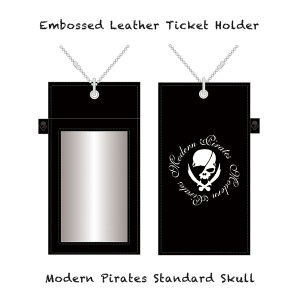 【 Embossed Leather Ticket Holder/Modern Pirates Standard Skull 】