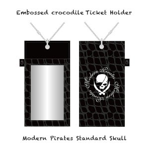 【 Embossed crocodile Ticket Holder/Modern Pirates Standard Skull 】