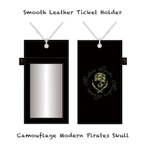 【 Smooth Leather Ticket Holder/Camouflage Modern Pirates Skull 】