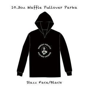 <img class='new_mark_img1' src='//img.shop-pro.jp/img/new/icons13.gif' style='border:none;display:inline;margin:0px;padding:0px;width:auto;' />10.3oz Waffle Pullover Parka/Stazz Face (Black Body)