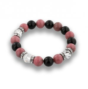 【 Balance Bracelet 600 Star Cut Crystal · Rhodonite (10 mm) 】