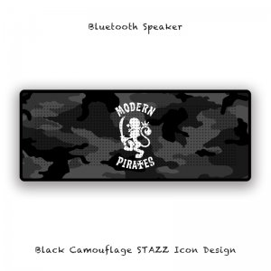 【 Bluetooth Speaker / Black Camouflage STAZZ Icon Design 】