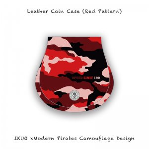 <img class='new_mark_img1' src='//img.shop-pro.jp/img/new/icons13.gif' style='border:none;display:inline;margin:0px;padding:0px;width:auto;' />【 Leather Coin Case / IKUO×Modern Pirates Camouflage Design (Red Pattern) 】