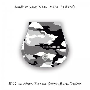<img class='new_mark_img1' src='//img.shop-pro.jp/img/new/icons13.gif' style='border:none;display:inline;margin:0px;padding:0px;width:auto;' />【 Leather Coin Case / IKUO×Modern Pirates Camouflage Design (Mono Pattern) 】
