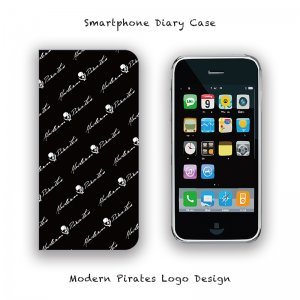 <img class='new_mark_img1' src='//img.shop-pro.jp/img/new/icons13.gif' style='border:none;display:inline;margin:0px;padding:0px;width:auto;' />【 Smartphone Diary Case / Modern Pirates Logo Design 】