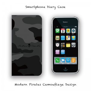 【 Smartphone Diary Case / Modern Pirates Camouflage Design 】