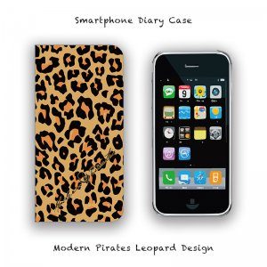 <img class='new_mark_img1' src='//img.shop-pro.jp/img/new/icons13.gif' style='border:none;display:inline;margin:0px;padding:0px;width:auto;' />【 Smartphone Diary Case / Modern Pirates Leopard Design 】