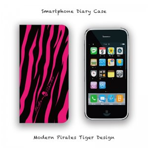 <img class='new_mark_img1' src='//img.shop-pro.jp/img/new/icons13.gif' style='border:none;display:inline;margin:0px;padding:0px;width:auto;' />【 Smartphone Diary Case / Modern Pirates Tiger Design 】
