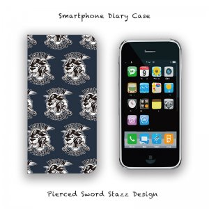 【 Smartphone Diary Case / Pierced Sword Stazz Design 】