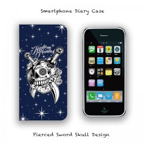 <img class='new_mark_img1' src='//img.shop-pro.jp/img/new/icons13.gif' style='border:none;display:inline;margin:0px;padding:0px;width:auto;' />【 Smartphone Diary Case / Pierced Sword Skull Design 】