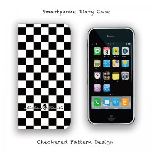 【 Smartphone Diary Case / Checkered Pattern Design 】