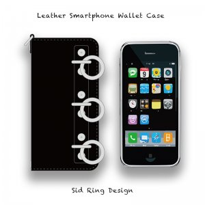 【 Leather Smartphone Wallet Case / Sid Ring Design 】