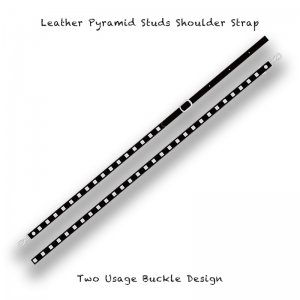 【 Leather Pyramid Studs  Sholder Strap / Two Usage Buckle Design 】