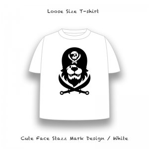 【 Loose Size T-Shirt / Cute Face Stazz Mark Design 】