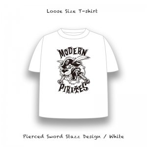 <img class='new_mark_img1' src='//img.shop-pro.jp/img/new/icons13.gif' style='border:none;display:inline;margin:0px;padding:0px;width:auto;' />【 Loose Size T-Shirt / Pierced Sword Stazz Design 】