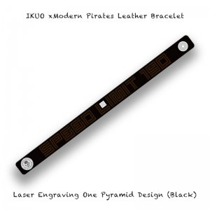 【 IKUO xModern Pirates Leather Bracelet / Laser Engraving One Pyramid Design 】