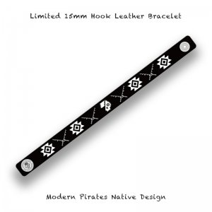 <img class='new_mark_img1' src='//img.shop-pro.jp/img/new/icons13.gif' style='border:none;display:inline;margin:0px;padding:0px;width:auto;' />【 15mm Hook Leather Bracelet / Modern Pirates Native Design 】*Limited*