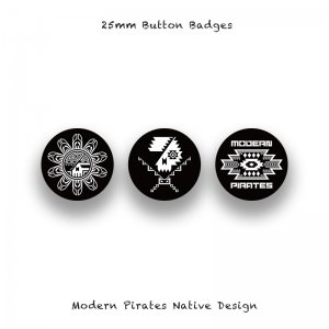 <img class='new_mark_img1' src='//img.shop-pro.jp/img/new/icons13.gif' style='border:none;display:inline;margin:0px;padding:0px;width:auto;' />【 25mm Button Badges / Modern Pirates Native Design 】*3 Pieces Set*